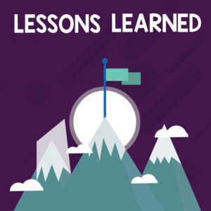 Conceptual Hand Writing Showing Lessons Learned